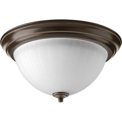 Progress Lighting P2305-2030K9 1-Light LED Flush Mount 17 Watt 120 Volt AC 13-1/4 Inch Antique Bronze Signature