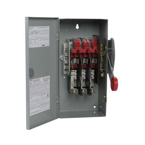 Eaton DH362NGK 4 Wire 3 Pole Fusible K Series Heavy-Duty Safety Switch 600 Volt AC 60 Amp NEMA 1