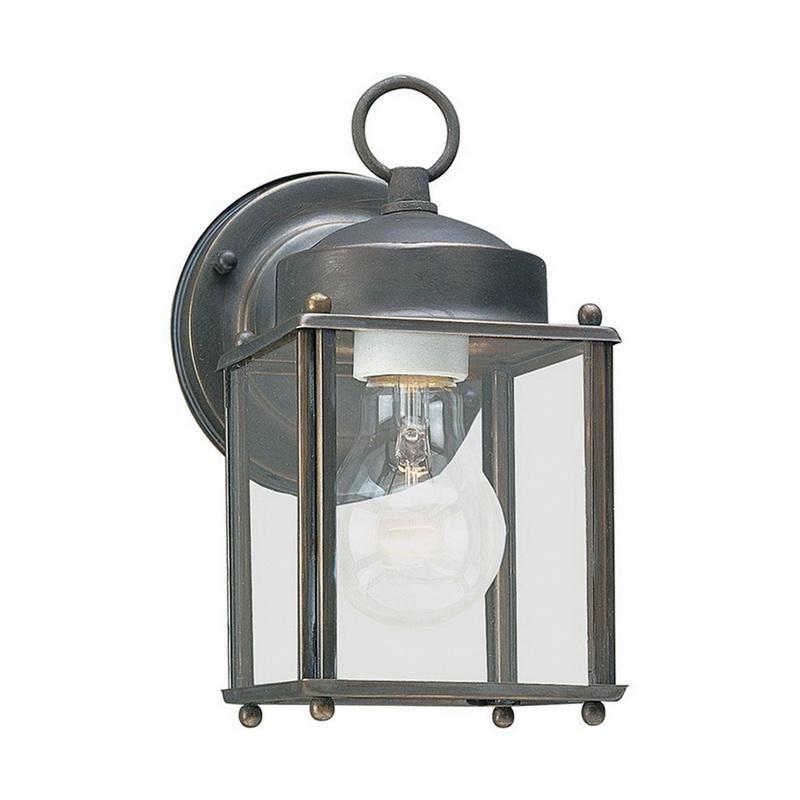 Sea Gull Lighting 8592-71 1-Light Outdoor Wall Lantern 100 Watt 120 Volt Antique Bronze Newcastle