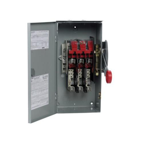 Eaton DH362NRK 4 Wire 3 Pole Fusible K Series Heavy-Duty Safety Switch 600 Volt AC 60 Amp NEMA 3R