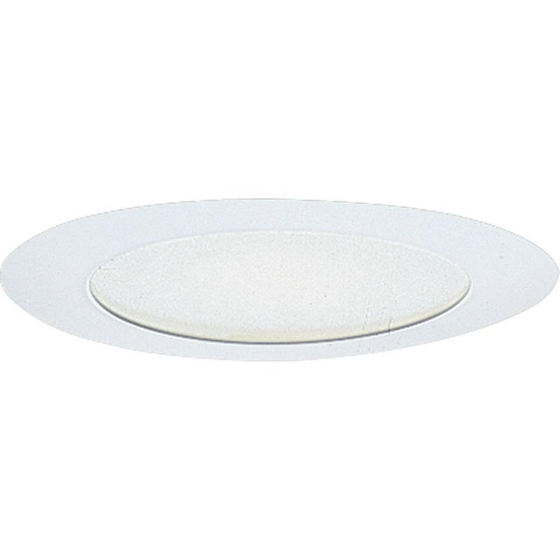 Progress Lighting P8060-28 IC/Non-IC 6 Inch Round Recessed Albalite Shower Light Trim With Reflector 1-Light White