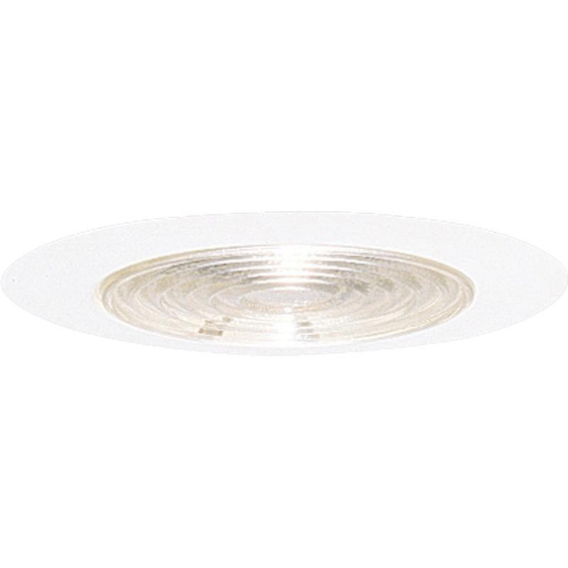 Progress Lighting P8062-28 IC/Non-IC 6 Inch Round Recessed Fresnel Shower Light Trim With Reflector 1-Light White