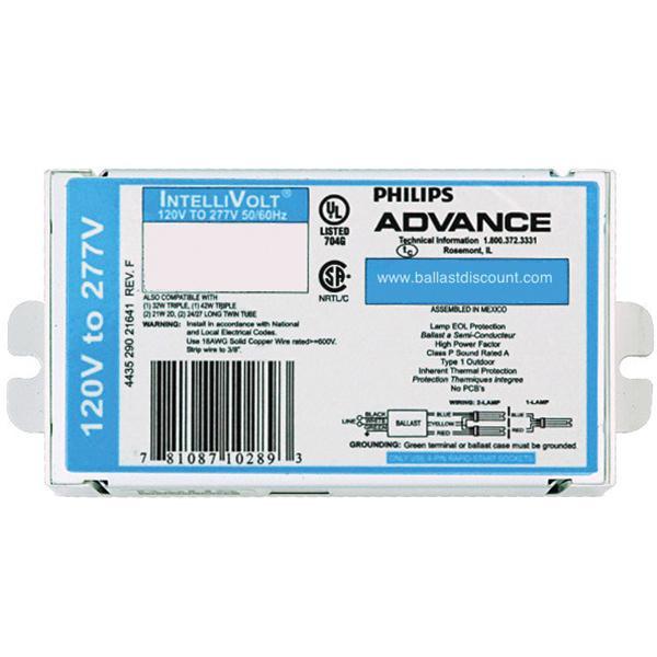 Philips Advance ISB043214EI (4) 110 Watt T12/HO Lamp Electronic Fluorescent Ballast 120 - 277 Volt SignPRO
