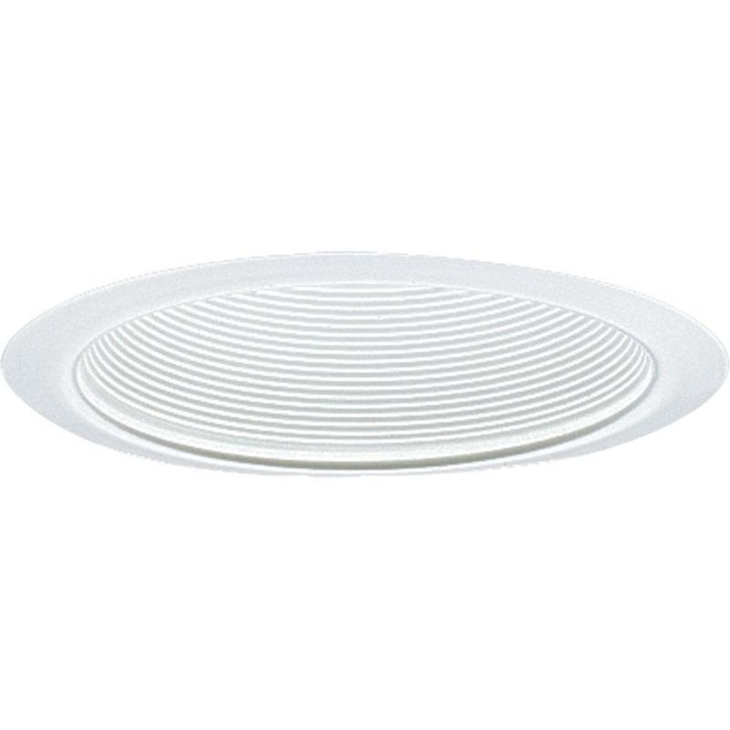 Progress Lighting P8066-28 IC/Non-IC 6 Inch Vertical Lamp Round Recessed Step Baffle Trim 1-Light White