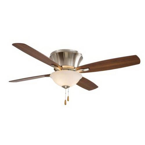 Minka-Aire F533-BN Mojo II Ceiling Fan With Light 52 Inch 4 Blade 3 Speed Brushed Nickel
