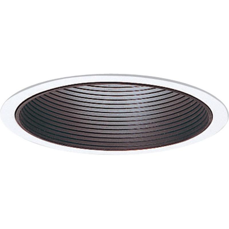 Progress Lighting P8066-31 IC/Non-IC 6 Inch Vertical Lamp Round Recessed Step Baffle Trim 1-Light Black