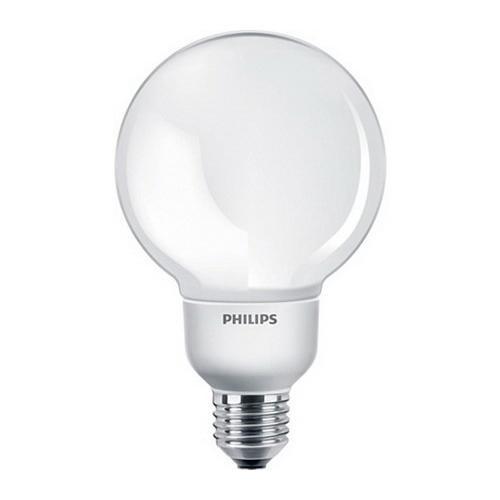 Philips Lighting 417352 EL/A G25 T3 Energy Saver Decorative Compact Fluorescent Lamp 9 Watt E26 Medium Base 500 Lumens 80 CRI 2700K Warm White