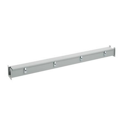 Hoffman F66L120 ANSI 61 Gray Polyester Powder Coated 14 Gauge Steel Straight Section Lay-In Wireway 120 Inch x 6 Inch x 6 Inch