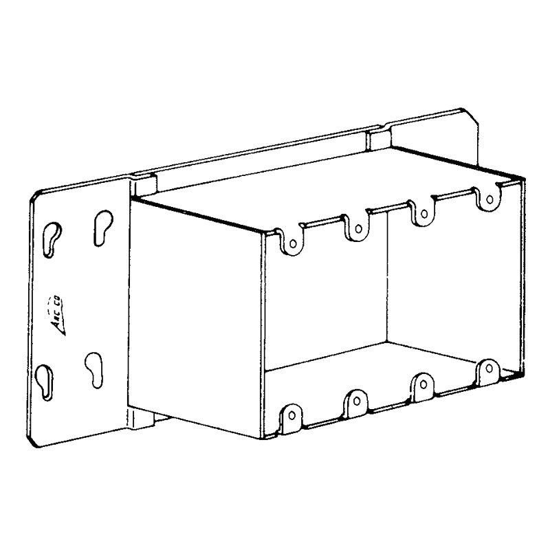 Arc-Co 2GC-1-1/2 2-Gang Special Raised Gang Box Adapter Cover 7-1/16 Inch x 4-3/4 Inch x 1-1/2 Inch