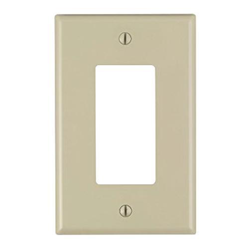 Leviton PJ26-I Thermoplastic Nylon Device Mount Midway Size 1-Gang  Decorator Wallplate (1) Decora/GFCI Ivory Decora®