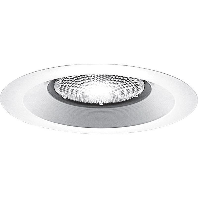 Progress Lighting P8072WL-28 IC/Non-IC 6 Inch Recessed Lens Less Shower Light Trim 1-Light White