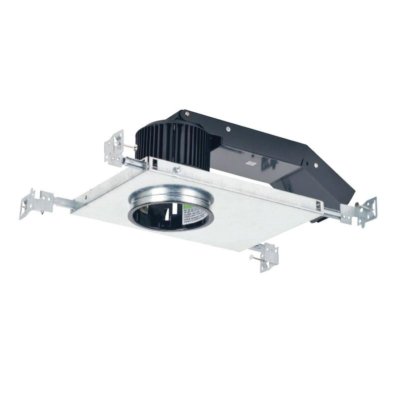 CSL Lighting EDL-NC-27-4 Standard New Construction Non-IC 3 Inch LED Recessed Eco-Down Light Housing 120 - 277 Volt Black Powder Coated