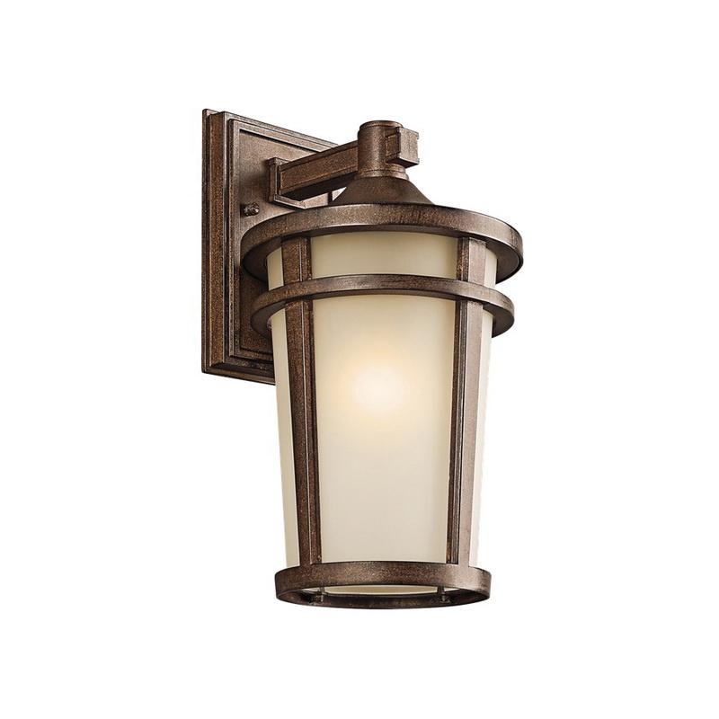 8e2ac4f6a4f Kichler 49072BST 1-Light Wall Lantern 100-Watt 120-Volt AC Brown Stone  Atwood - Decorative   Landscape Lighting - Outdoor Fixtures - Lighting -  Lighting