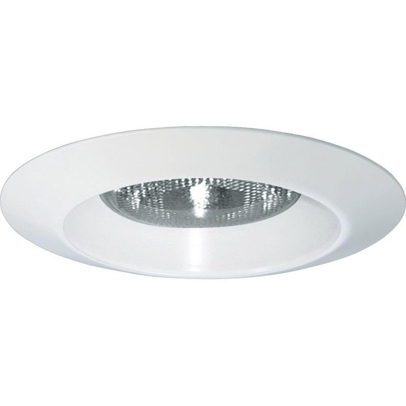Progress Lighting P8074WL-28 IC/Non-IC 6 Inch Round Recessed Lens Less Shower Light Trim 1-Light White