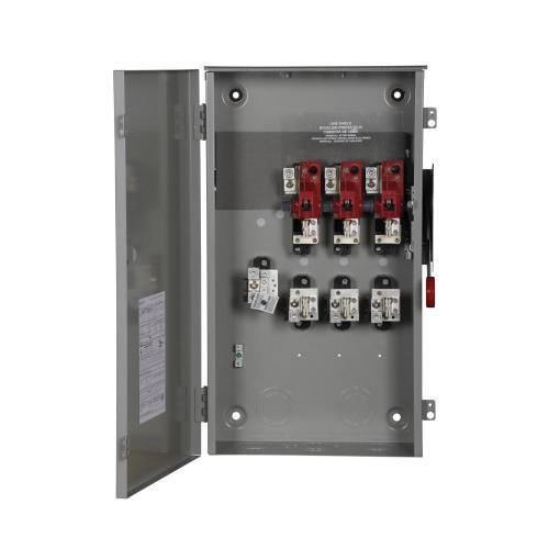Eaton DH324NRK 4 Wire 3 Pole Fusible K Series Heavy-Duty Safety Switch 240 Volt AC 200 Amp NEMA 3R