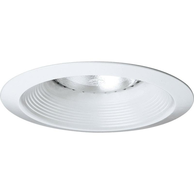 Progress Lighting P8075-28 IC/Non-IC 6 Inch Long Neck Round Recessed Open Baffle Trim 1-Light White