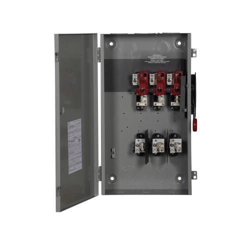 Eaton DH364FGK 3 Wire 3 Pole Fusible K Series Heavy-Duty Safety Switch 600 Volt AC 200 Amp NEMA 1