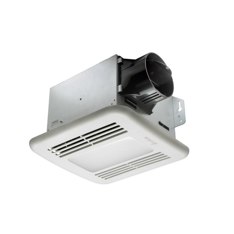 Delta GBR80LED Bathroom Ventilation Fan With Dimmable LED Light 4 Inch Duct 80 CFM at 0.10 Inch Static Pressure 63 CFM at 0.25 Inch Static Pressure