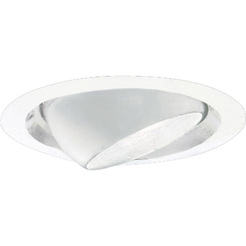 Progress Lighting P8076-28 IC/Non-IC 6 Inch Round Recessed Eyeball Trim 1-Light White