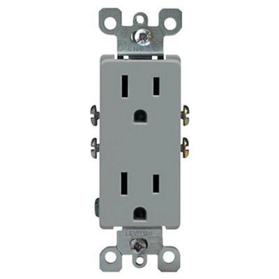 Leviton 5325 Gy Residential Grade Impact Resistant Straight Blade