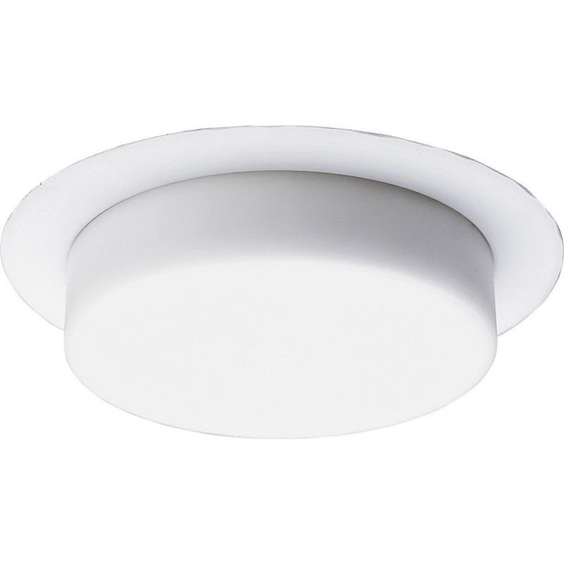 Progress Lighting P8109-28 IC/Non-IC 5 Inch Round Recessed Dropped Opal Shower Trim 1-Light White