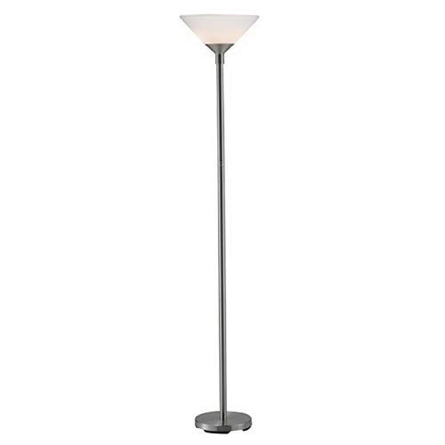 Adesso 7500 22 Modern Chik 2 Light Floor Lamp 150 Watt Brushed Steel