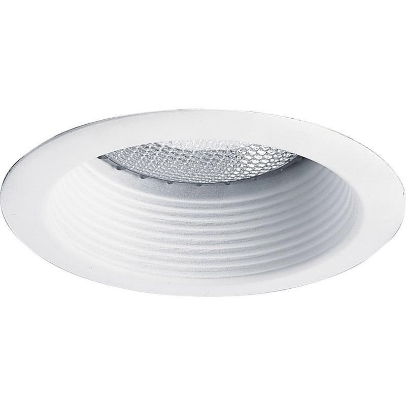 Progress Lighting P8175-28 IC/Non-IC 5 Inch Round Recessed Deep Baffle Trim 1-Light White