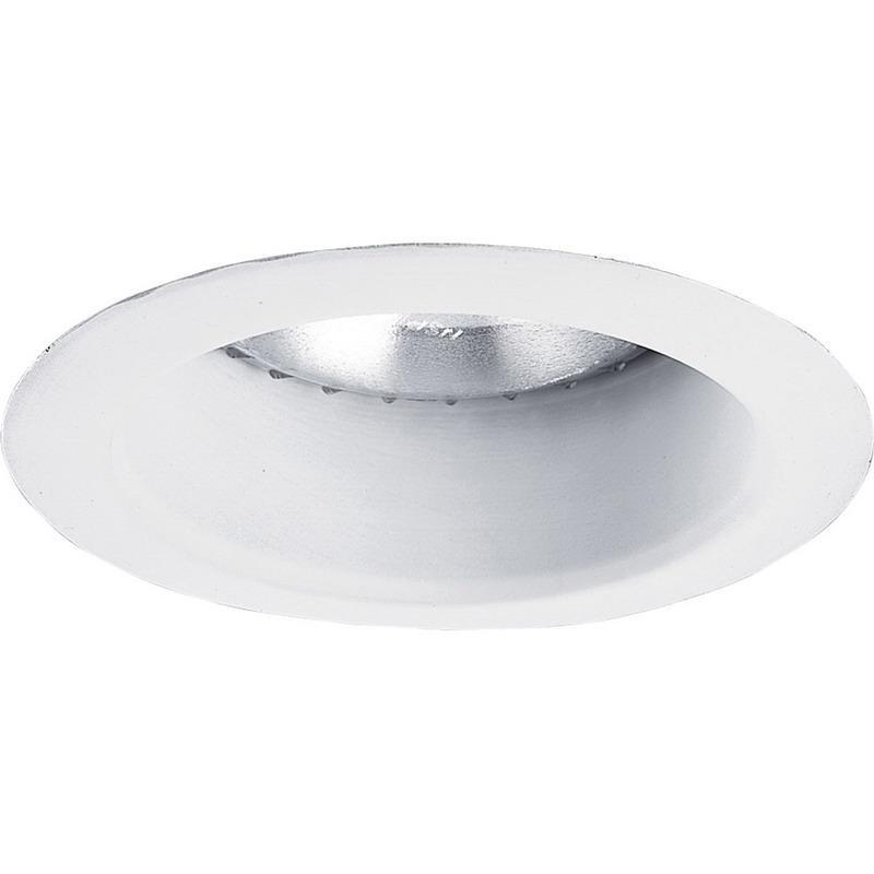 Progress Lighting P8367WL-28 IC/Non-IC 5 Inch Round Recessed Lens Less Shower Light Open Trim 1-Light White