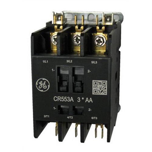 GE Industrial CR553AB3HAA 3 Pole Open Type CR553 Series Full Voltage Definite Purpose Contactor 25 Amp 24 Volt AC