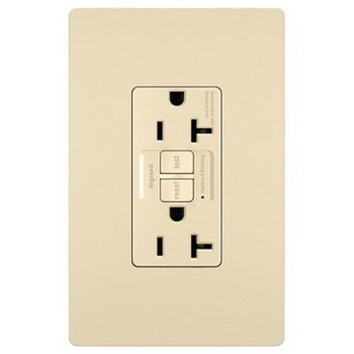 Pass & Seymour 2097-I Specification Grade Self-Test GFCI Duplex Receptacle 20 Amp 125 Volt AC NEMA 5-20R Ivory Radiant®