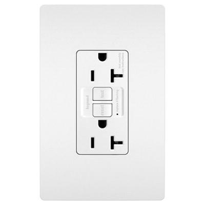Pass & Seymour 2097-W Specification Grade Self-Test GFCI Duplex Receptacle 20 Amp 125 Volt AC NEMA 5-20R White Radiant®