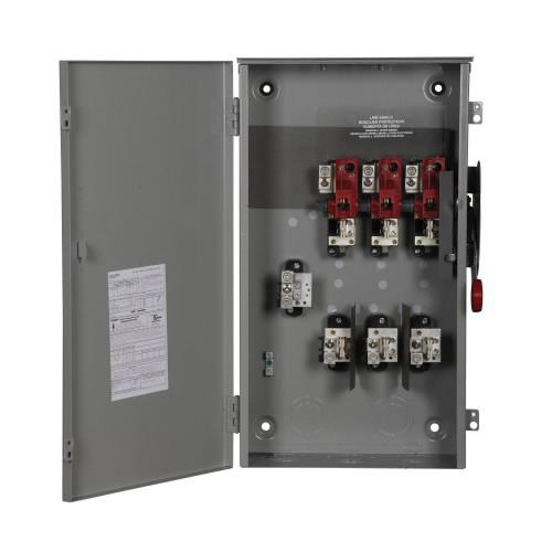 Eaton DH364NRK 4 Wire 3 Pole Fusible K Series Heavy-Duty Safety Switch 600 Volt AC 200 Amp NEMA 3R