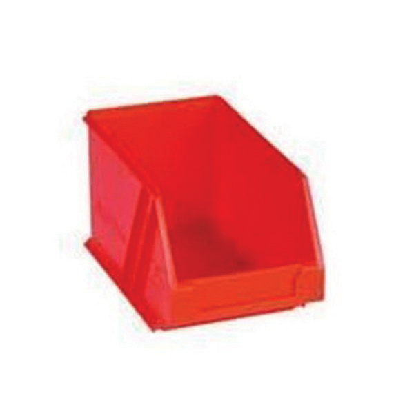 Rolacase RP25 1 Compartment Small Bin 5-1/8 Inch x 8.6562 Inch x 4-59/64 Inch Plastic Red