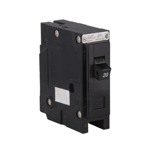 Eaton HBAX1020 Bolt-On Mount Miniature Circuit Breaker 1-Pole 20 Amp 120/240 Volt AC Quik-Lok™