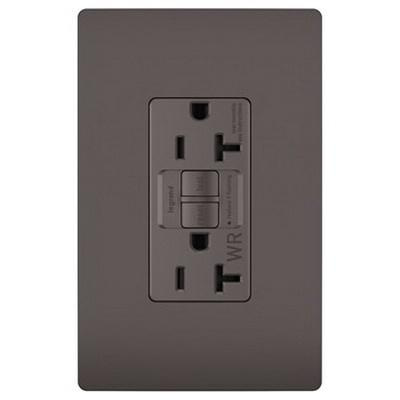 Pass & Seymour 2097-TRWR Specification Grade Tamper and Weather Resistant Self-Test GFCI Duplex Receptacle 20 Amp 125 Volt AC NEMA 5-20R Brown Radiant®