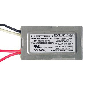 Hatch Lighting RS12-80M Low Voltage Electronic Transformer