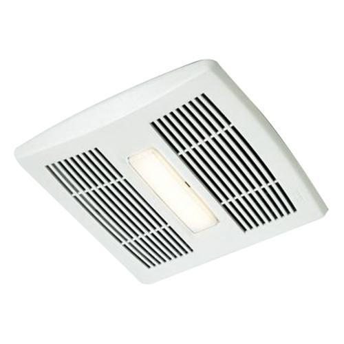 Shop Broan 0 3 Sone 110 Cfm White Bathroom Fan Energy Star: Nutone AE110L Single Speed Fan With Light 120-Volt AC 110