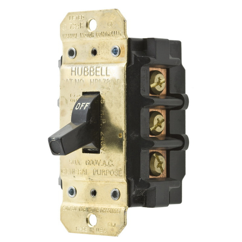 Hubbell Wiring Hbl7853d 3 Pole 3 Phase Toggle Manual Motor