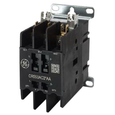 GE Industrial CR553AC3AAA 3 Pole Open Type CR553 Series Full Voltage Definite Purpose Contactor 30 Amp 115 - 120 Volt AC