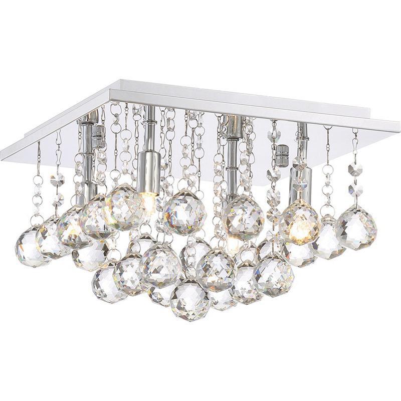 Quoizel Lighting BRX1611C 4-Light Flush Mount Ceiling Fixture 40 ...