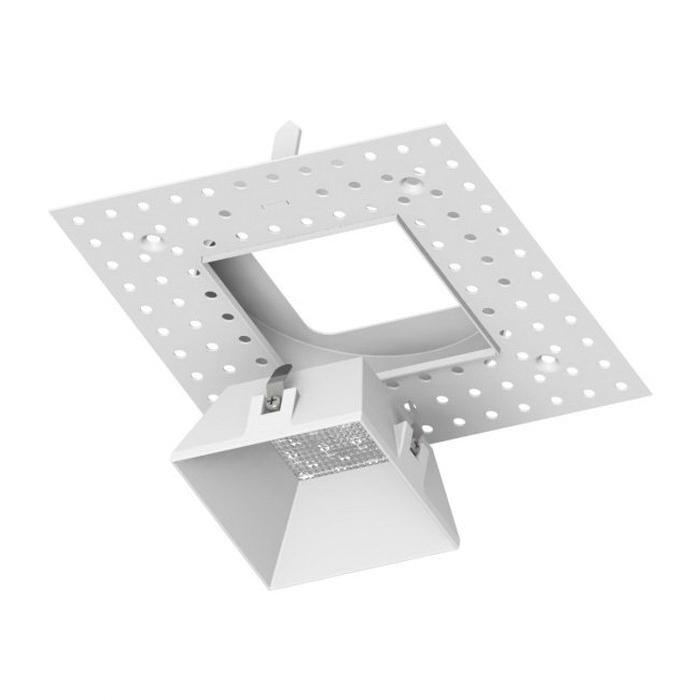 Wac Lighting Hr 3led Tl820 Wt Dimmable Trimless 3 1 2 Inch Led Shallow Housing Square White Powder Coated