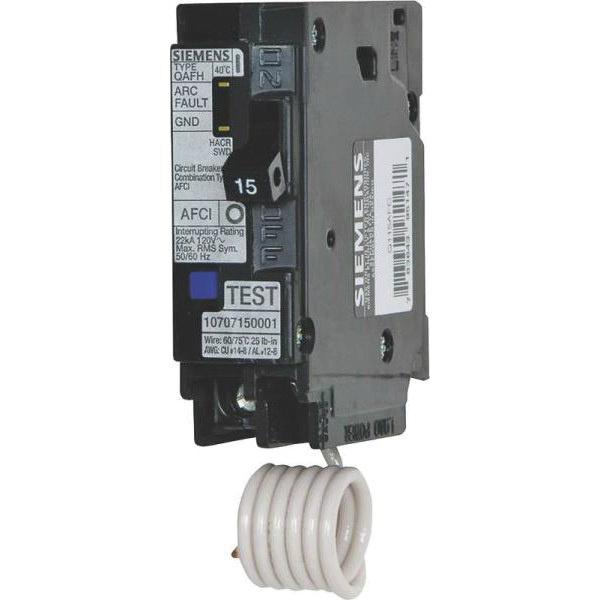 Siemens QA115AF Plug-In Mount Branch Feeder AFCI Circuit Breaker 1 ...