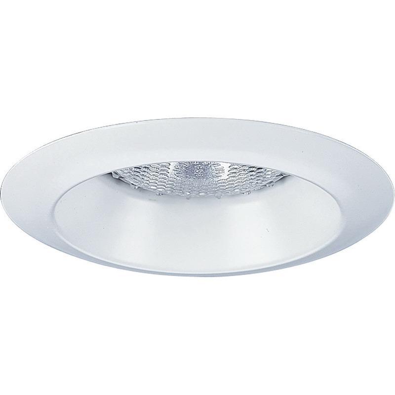 Progress Lighting P8041-28 IC/Non-IC 4 Inch Round Recessed Open Trim 1-Light White