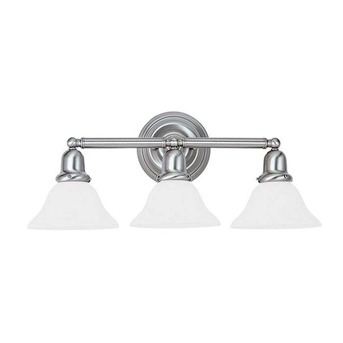 Sea Gull Lighting 44237 962 3 Light Brushed Nickel Bathroom Vanity Wall Fixture: Sea Gull Lighting 44062-962 3-Light Transitional Up/Down/Wallmount Bath Fixture 100-Watt 120