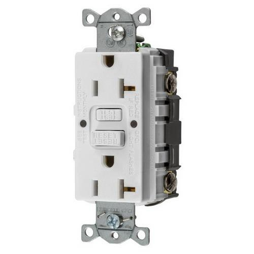 P on 20 Amp Hubbell Wiring Receptacles