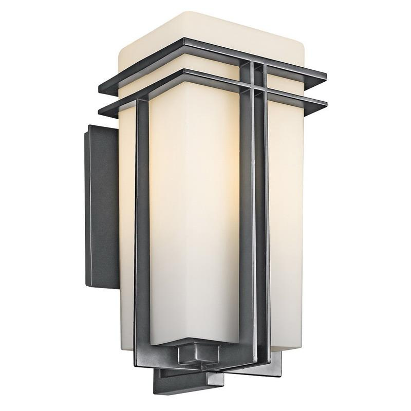 Kichler 49202BK 1-Light Outdoor Wall Lighting 150 Watt 120 Volt Black Painted Tremillo