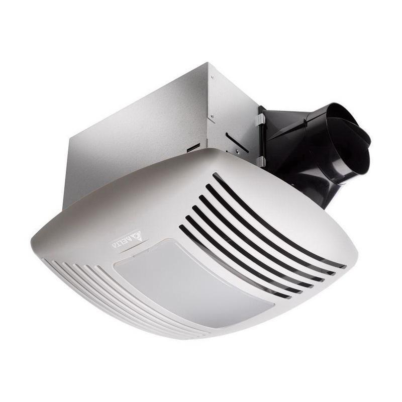 Delta SIG80L Bathroom Ventilation Fan With LED Light 4 Inch Duct 80 CFM at 0.10 Inch Static Pressure 80 CFM at 0.25 Inch Static Pressure