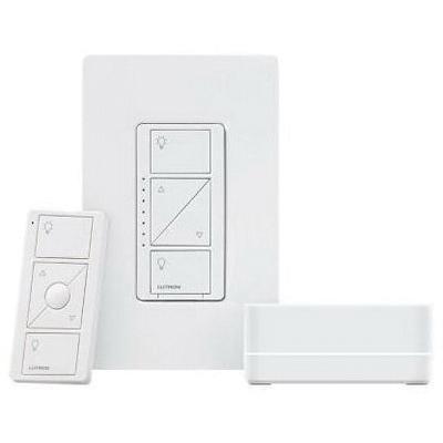 Lutron P-BDGPRO-PKG1W Wireless Dimmer Pro Kit With Smart Bridge 120 Volt White Caseta®