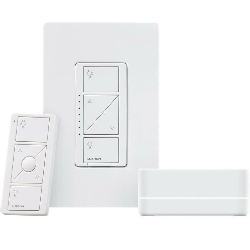 Lutron P-BDG-PKG1W Wireless Dimmer Kit With Smart Bridge 120 Volt White Caseta®