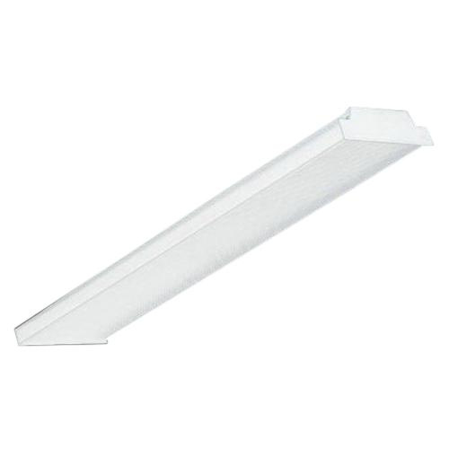 Lamar Lighting WS.2.32.T.E8.U 4-Light Pendant/Surface Mount WS Series Tandem Wraparound Fixture 32 Watt 120 - 277 Volt Baked White Enamel